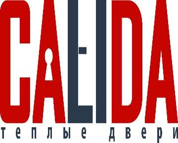 Логотип Calida - тёплые входные двери в дом из алюминия