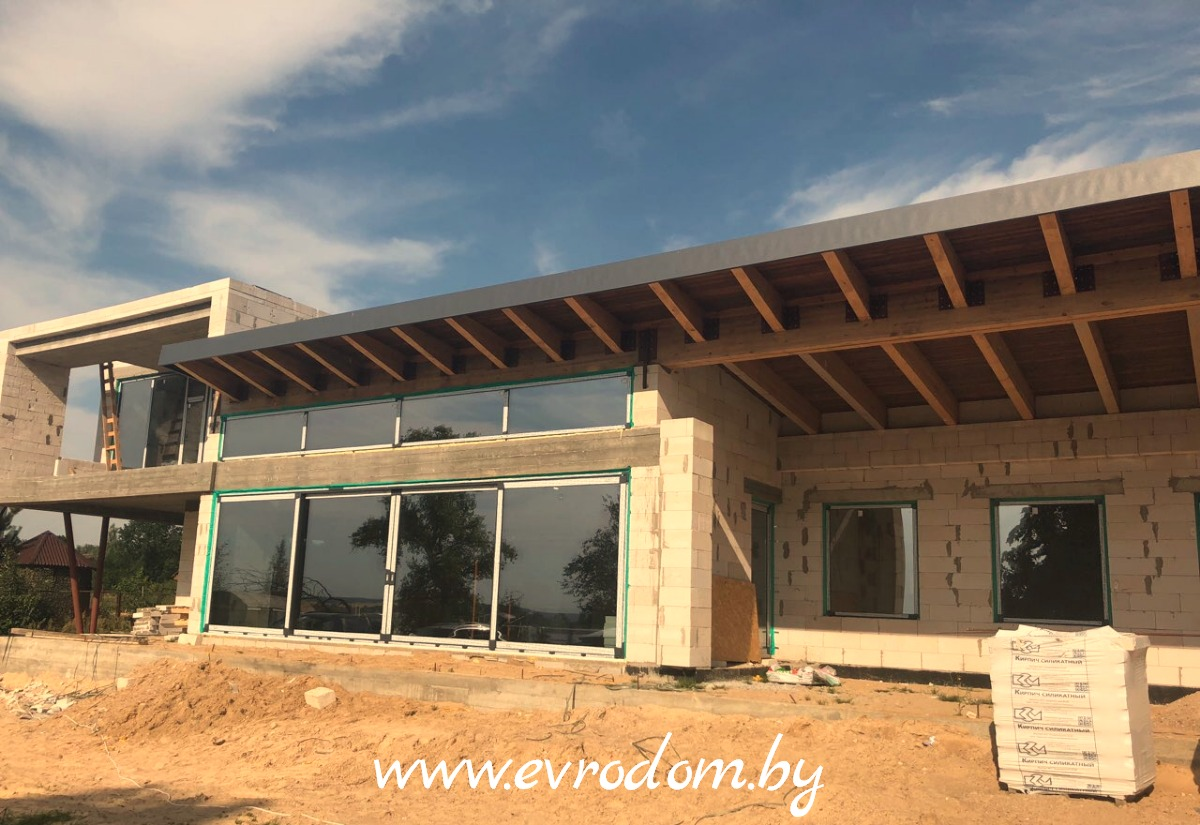 Окна от потолка до пола для частного дома в Гродно