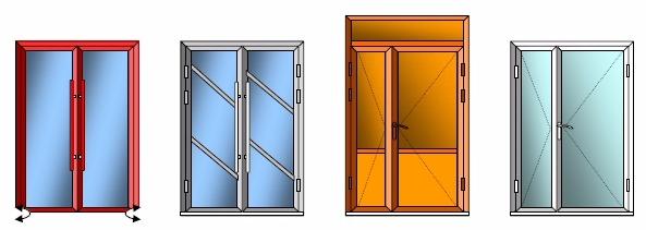 Примеры двустворчатых дверей