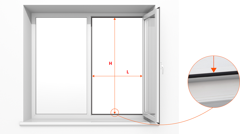 Как сделать замер светового проема для москитной сетки?