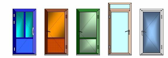 Примеры одностворчатых дверей