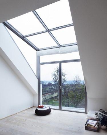 Окно из алюминия  в частном доме