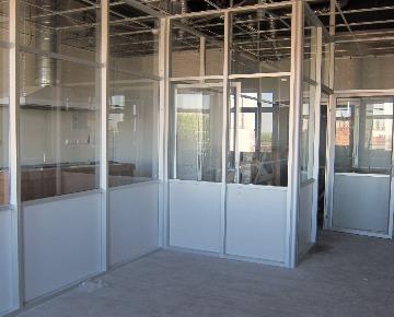 Алюминиевая офисная перегородка