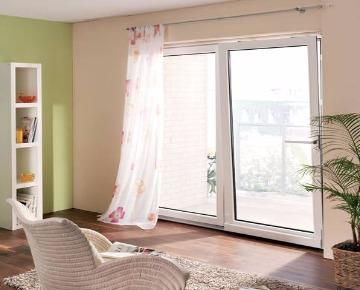 Раздвижные окна в пол в доме